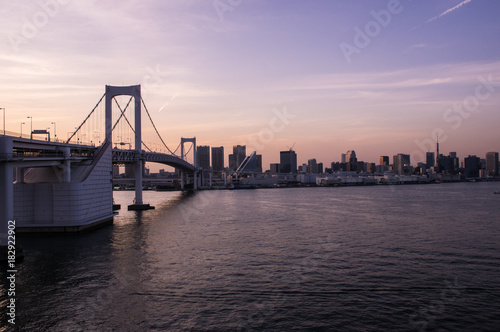 Plakat Tokio tęczowy most