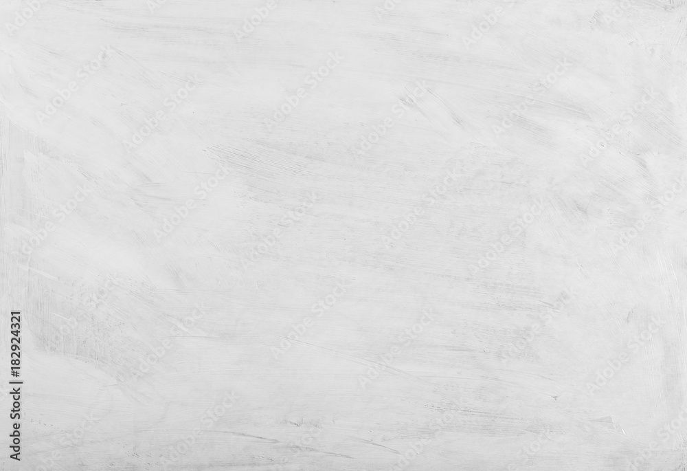 Fototapety, obrazy: White washed painted textured abstract background with brush strokes in gray and black shades.