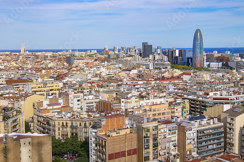 In de dag Zuid-Amerika land Aerial view of Barcelona, Spain