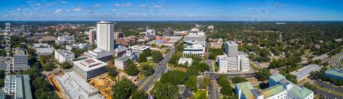 Aerial panorama Downtown Tallahassee Florida #182927338