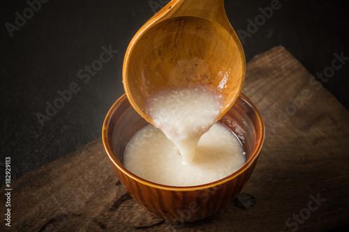 甘酒  delicious sweet alcoholic drink japan