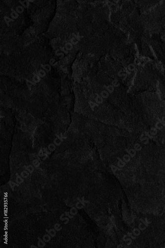 Poster Concrete Wallpaper Dark grey black slate background or texture.