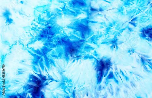 batik background, textile batik structure. Blue color. Wallpaper Mural