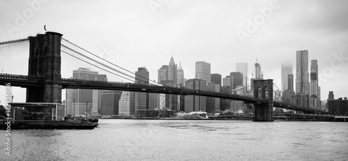 Poster New York Brooklyn Bridge New York City East River Manhatten