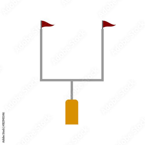 Fotografia, Obraz  American football goal post