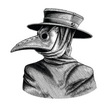 Plague Doctor Hand Drawing Vin...