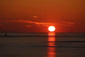 Sunset at Gulf of Finland