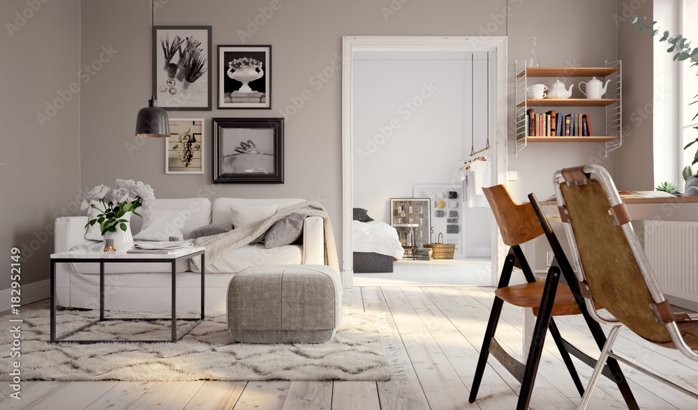 Fototapety, obrazy: Kleines Altbau Apartment - small swedish vintage apartment downtown
