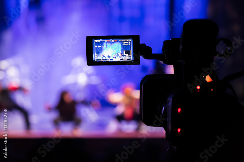 Photo  Filming the show from the auditorium
