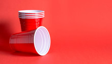 Red Party Cup Background Templ...