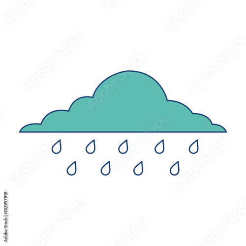 cloud rainy sky forecast storm isolated icon vector illustration image green Fotobehang