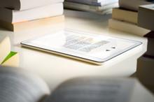 Electronic Book Reader. Modern...