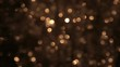 Flickering of gold tinsel is out of focus. Christmas background, tinsel.