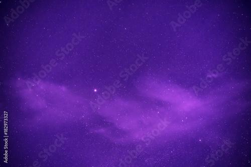 Obraz Purple night sky with stars - fototapety do salonu