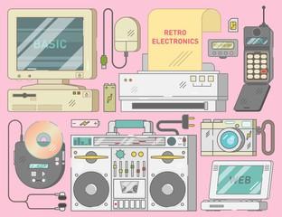 Retro vintage electronics s...