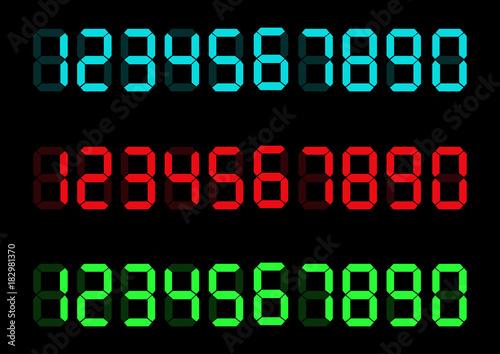Cuadros en Lienzo Digital numbers set