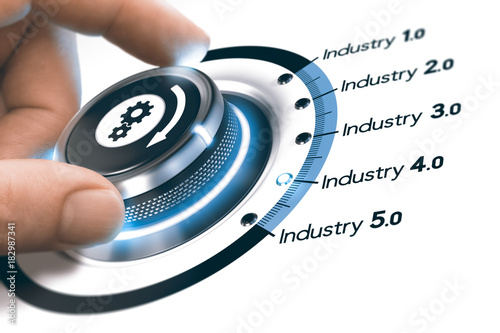 Industry 4.0, Next Industrial Revolution Tableau sur Toile