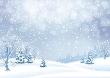 Vector Winter Landscape