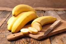 Banana Cut On Board