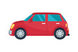 Hatchback Automobile Icon Vector Illustration