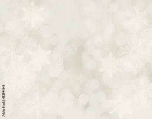 Fototapeta Białe płatki śniegu na jasnym kremowym tle. obraz