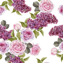 Floral Seamless Pattern With W...