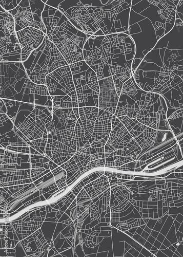 Frankfurt am Main plan miasta, szczegółowe mapy wektorowe