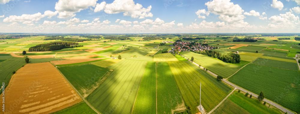 Fototapety, obrazy: Luftaufnahme Ländlicher Raum - Panorama