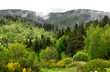 Panoramic view of Ardeche mountains in France.