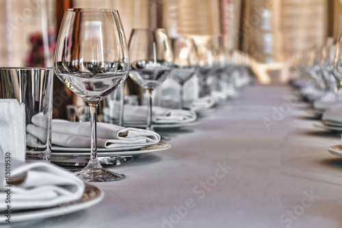 Tableau sur Toile Banquet hall in the restaurant