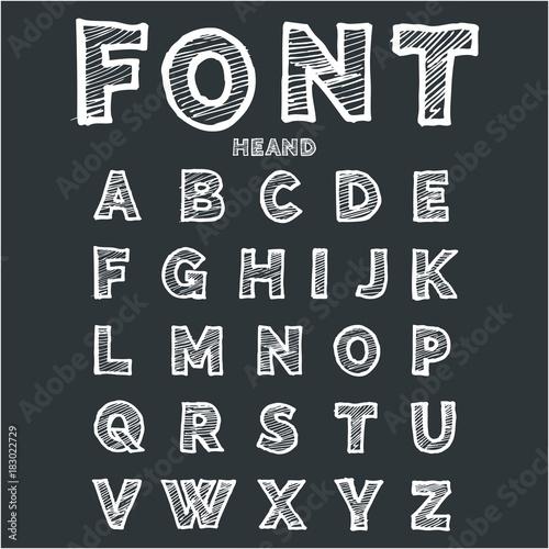 Fotografia, Obraz  Font - pismo ręcznie rysowane