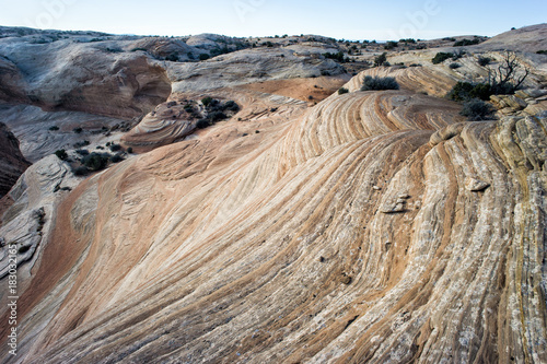 Photo  Sandstone Striations