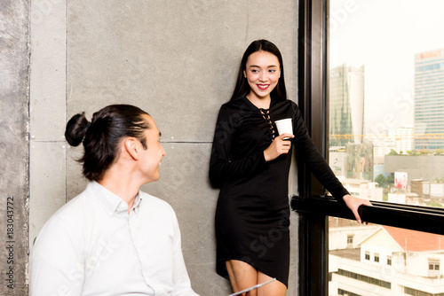 Naughty office asian
