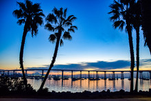 Sunrise Behind The San Diego B...