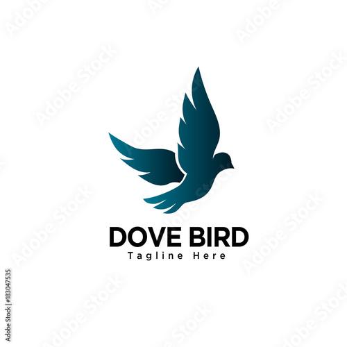 Photographie flying dove bird art logo