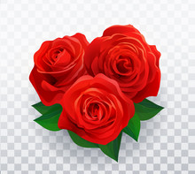 Vector Beautiful Red Roses In ...