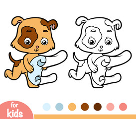 Coloring book, Dog