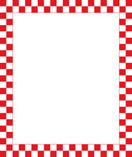 Vector Red Checkered Frame - Design Element For Christmas