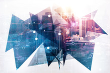 Urban Technology Concept