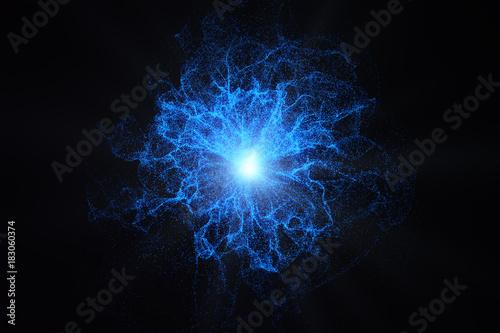 Valokuva Glowing plasma background
