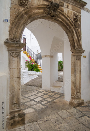 Fototapety, obrazy: Martina Franca, Italy - The elegant historic center of a white city in province of Taranto, Apulia region, southern Italy.