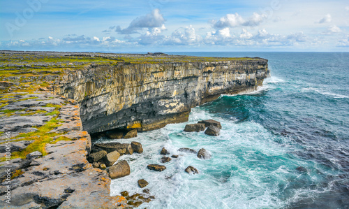 Scenic cliffs in Inishmore, Aran Islands, Ireland. Canvas Print