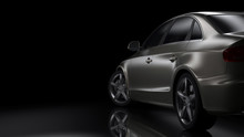 Dark Car Silhouette 3D Illustr...