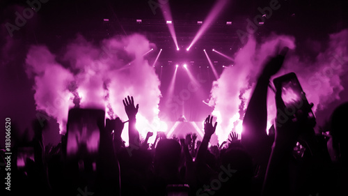 Photo  Happy People Dance in Nightclub Party Concert