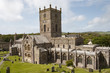 canvas print picture - St Davids cathedrial