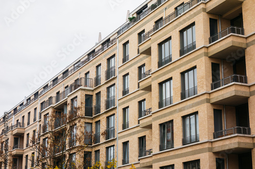 Orange Modern Brick Apartment Building
