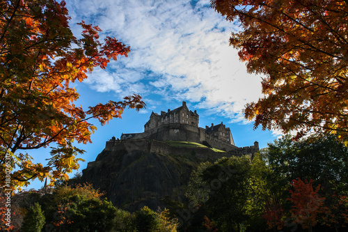 Garden Poster Chocolate brown Edinburgh Castle