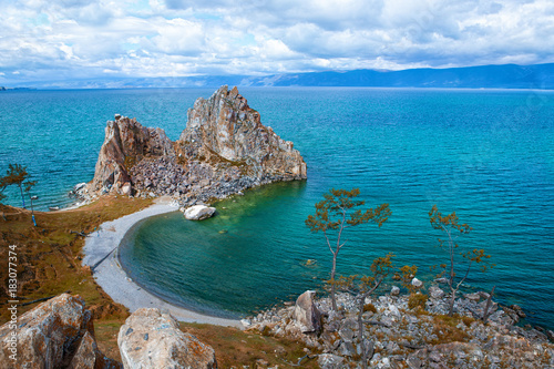 Shamanka Rock, Island Olkhon on the Lake Baikal Canvas Print