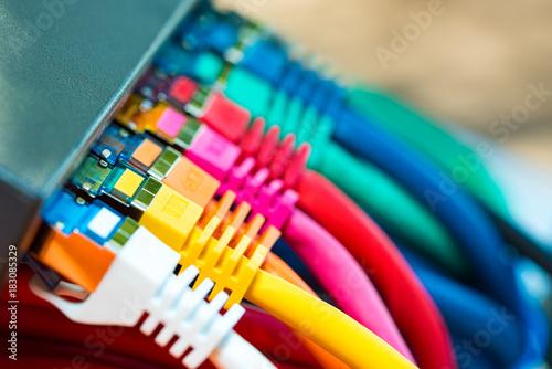 Fotografie, Obraz  Network Cables