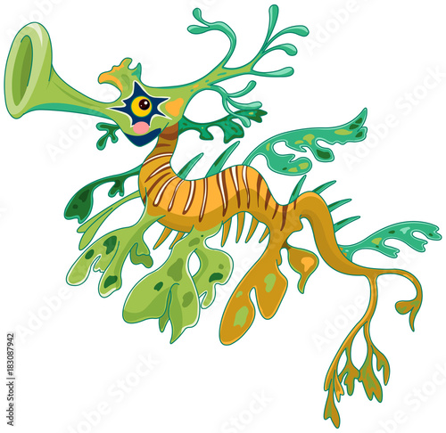 Poster Magie Dragon Seahorse